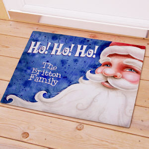 Customizable Santa Doormat