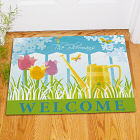 Personalized Watering Can Welcome Doormat