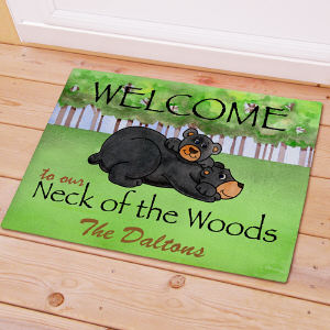 Personalized Bear Neck Of The Woods Doormat 83140687