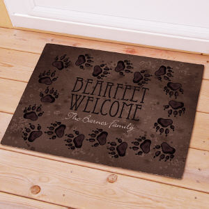 Personalized Bearfeet Welcome Doormat