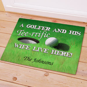 Personalized Tee-rrific Wife Golf Doormat 83142707