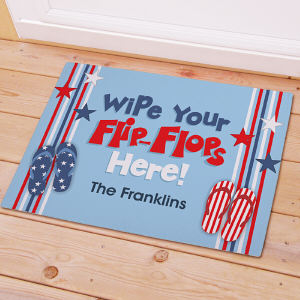 Personalized Wipe Your Flip Flops Here Stars Doormat | Personalized Doormats