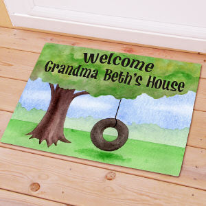 Personalized Tire Swing Welcome Doormat