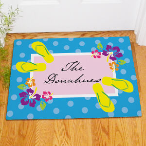 Personalized Summer Welcome Doormat 83143367