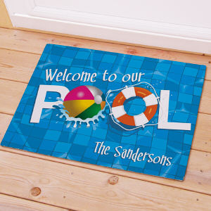 Personalized Welcome To Our Pool Doormat 83143377