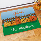 Personalized Give Thanks Welcome Doormat