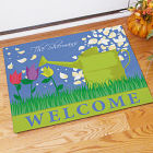 Personalized Watering Can Welcome Doormat 83149427