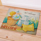 Personalized Spring Garden Welcome Doormat
