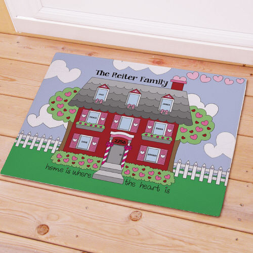 Personalized Home Is Where The Heart Is Doormat | Personalized Doormats