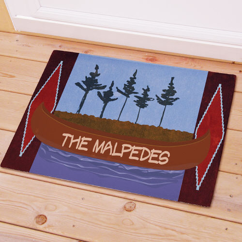 Personalized Canoe Welcome Doormat | Personalized Doormats