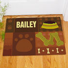 Personalized Paw Print Doggy Doormat