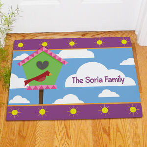 Personalized Birdhouse Welcome Doormat