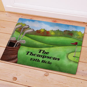 Personalized Golf Welcome Doormat 83155967