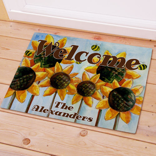 Personalized Sunflower Welcome Doormat 83155977X