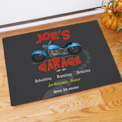 Personalized My Garage Doormat 83158997X