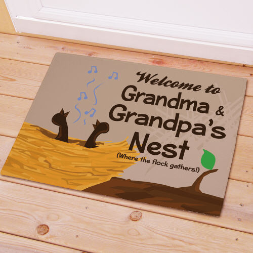 Personalized Our Nest Doormat | Personalized Gifts For Grandparents