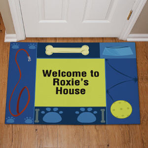 Personalized Doggy's House Pet Doormat