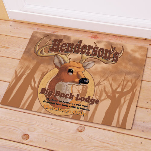Personalized Big Buck Lodge Doormat 83159427X
