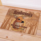 Personalized Big Buck Lodge Doormat