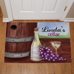 Personalized My Wine Cellar Doormat