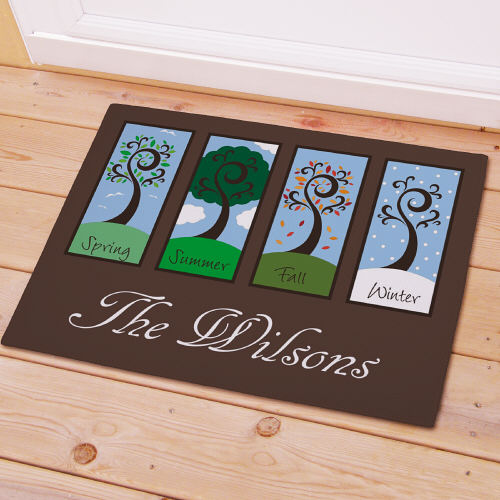 Personalized Four Seasons Welcome Doormat | Personalized Doormats