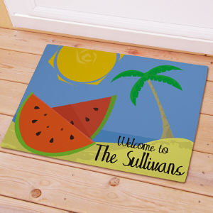Personalized Beach Welcome Doormat