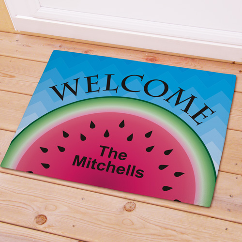 Personalized Watermelon Welcome Doormat 83167057X