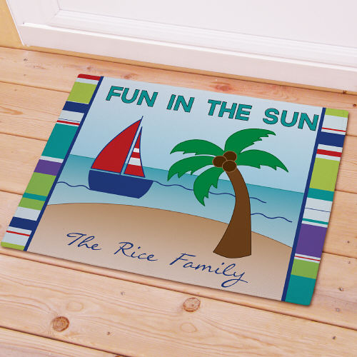 Personalized Summer Fun Welcome Doormat | Personalized Doormats