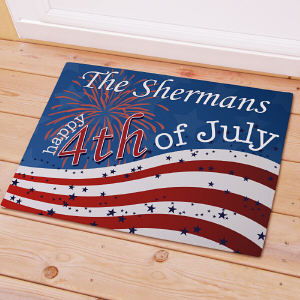 Personalized 4th of July Welcome Doormat 83167327X
