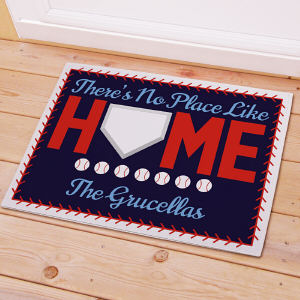 Personalized Baseball Welcome Doormat