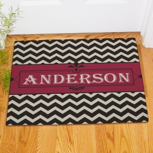 Personalized Chevron Welcome Doormat 83173207X