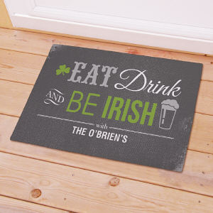 Personalized Irish Welcome Doormat