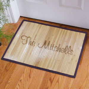 Personalized Family Name Bamboo Doormat
