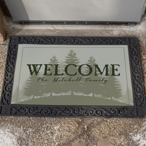 Personalized Outdoor Country Welcome Doormat