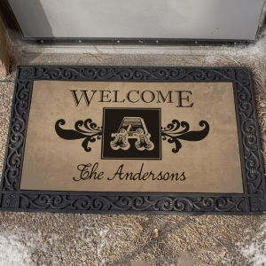 Welcome Monogram Doormat U814383X