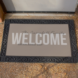 Family Welcome Doormat | Gifts for New Homeowners