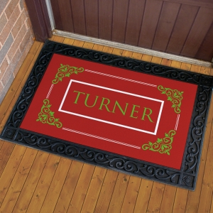 Personalized Filigree Welcome Doormat U814783X