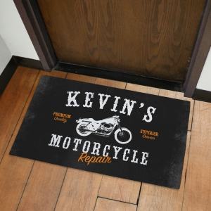 Personalized Motorcycle Repair Doormat | Mancave Gifts