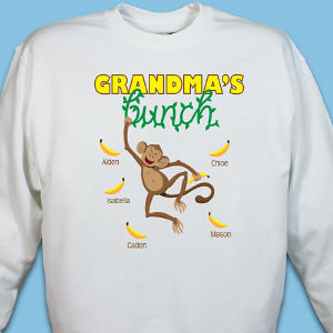 Personalized Monkey Bunch Sweatshirt
