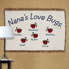 Personalized Love Bugs Tapestry Throw Blanket