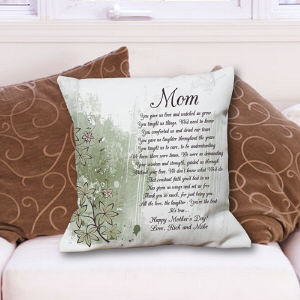Personalized Mom Poem Throw Pillow