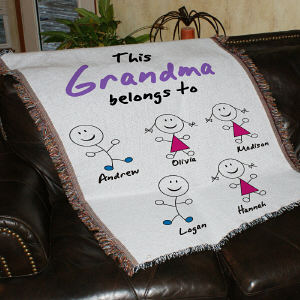 Personalized Belongs To Tapestry Throw Blanket | Personalized Gifts for Grandma