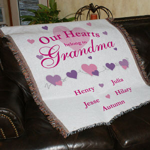 Personalized Our Hearts Belong To...Tapestry Throw Blanket