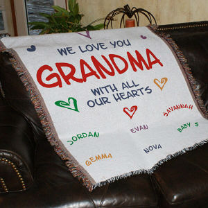 Personalized Love Tapestry Throw Blanket