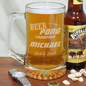 Engraved Beer Pong Mug