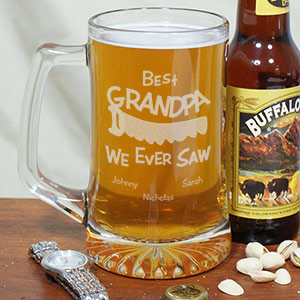 Personalized Best We Ever Saw Glass Mug