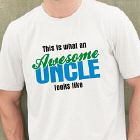 Awesome Uncle Personalized T-shirt