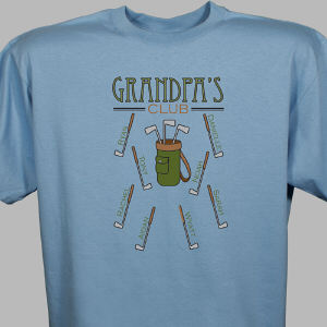 Personalized Golf Club T-Shirt