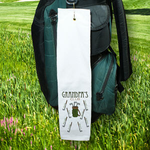 Personalized Golf Club Golf Towel