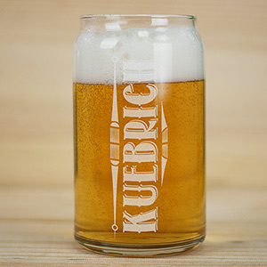 Engraved Any Name Beer Glass L9737118